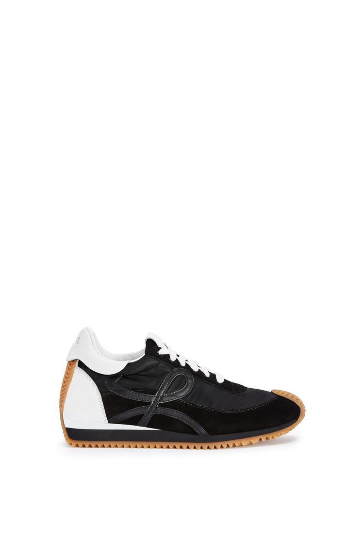 LOEWE Flow runner in nylon Black/White pdp_rd