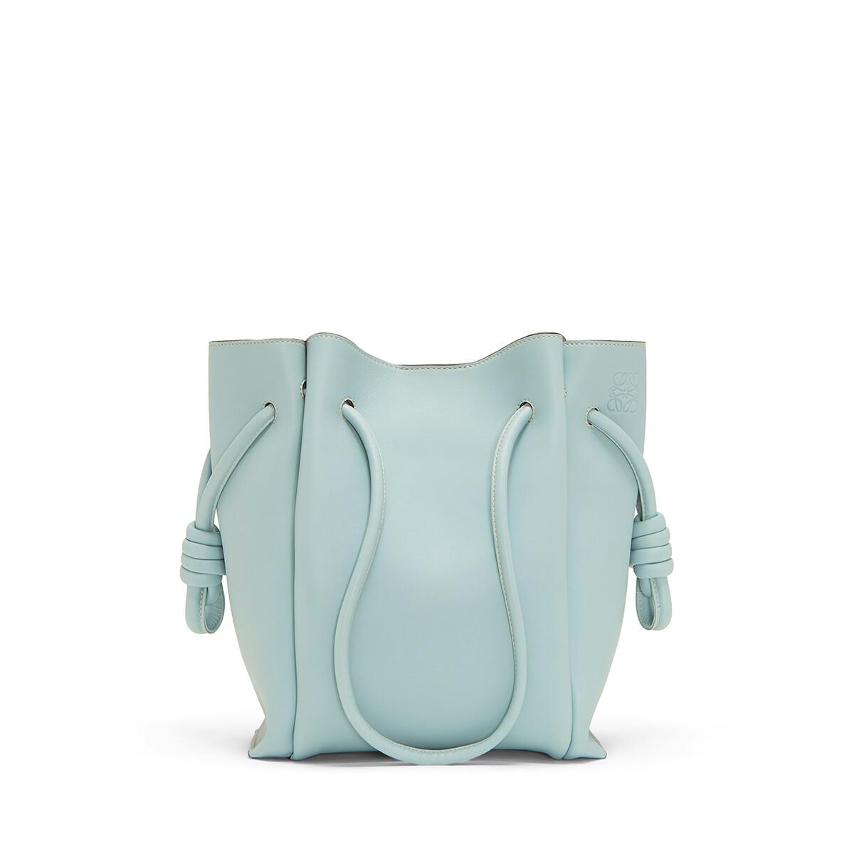 LOEWE Flamenco Knot Tote Small Bag Aqua front