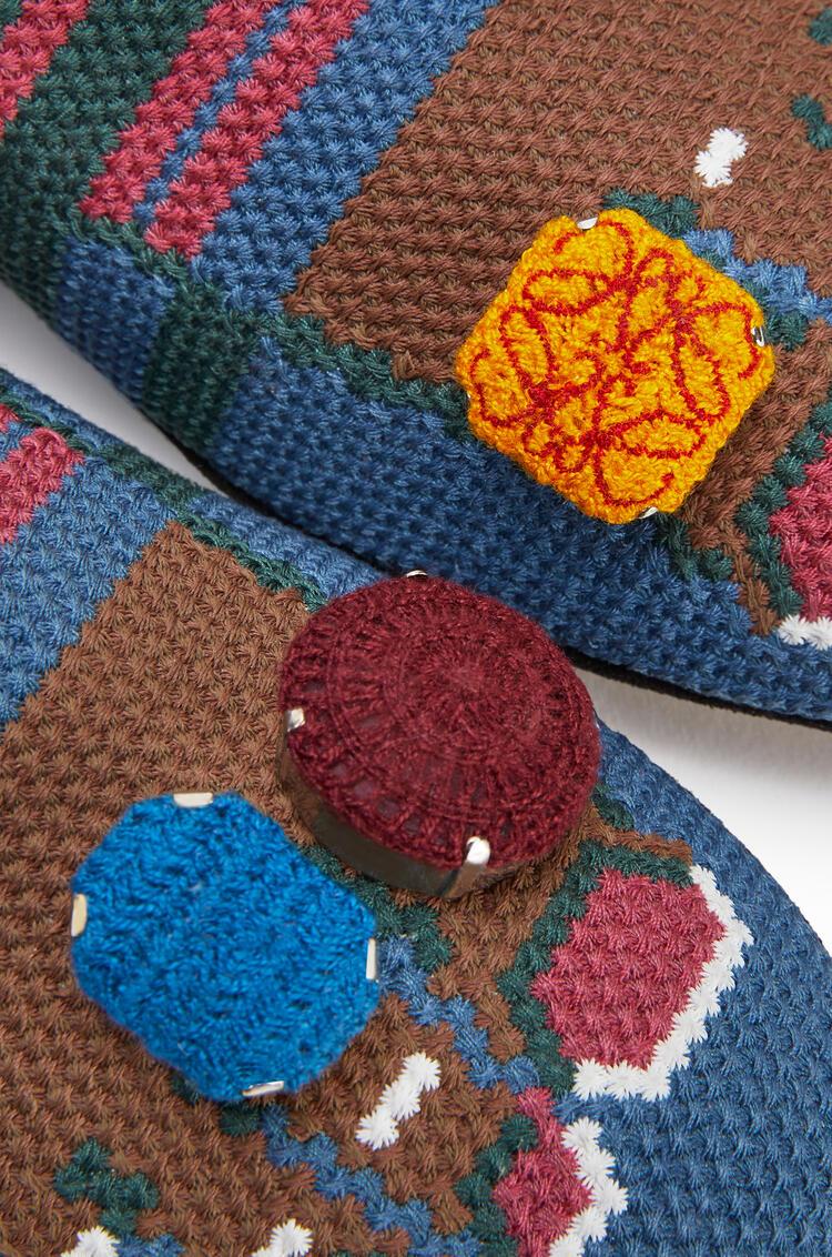 LOEWE Slipper in calfskin Blue/Brown pdp_rd