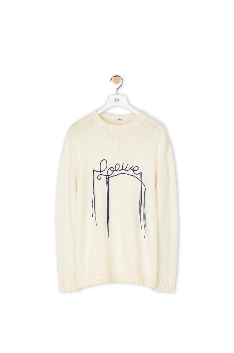 LOEWE Jersey en algodón con costuras de LOEWE Ecru/Marino pdp_rd