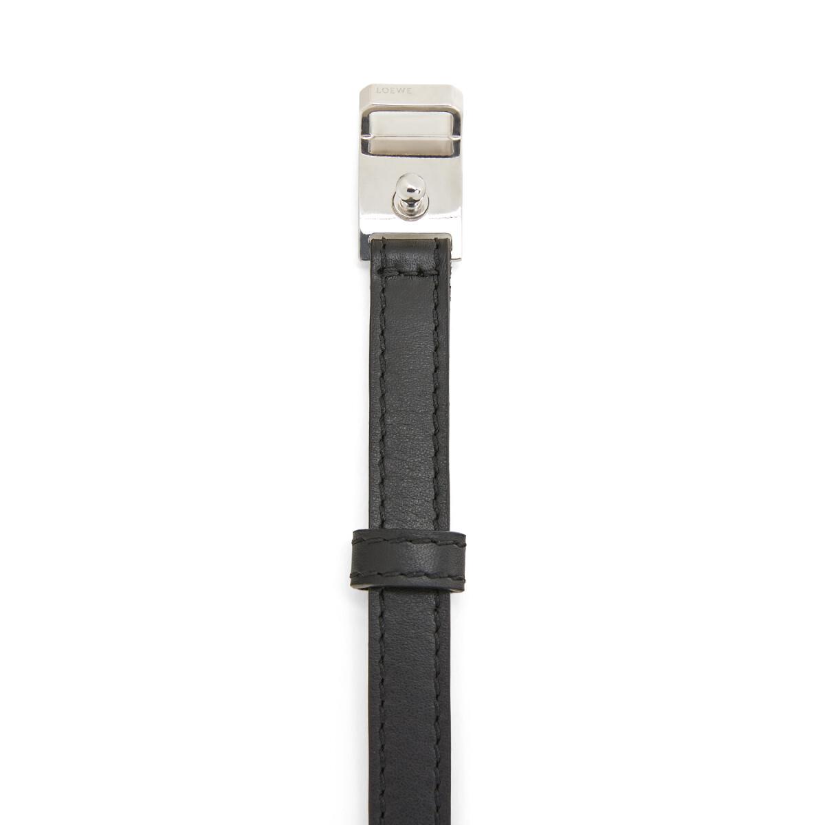 LOEWE Double Bracelet 黑色 front