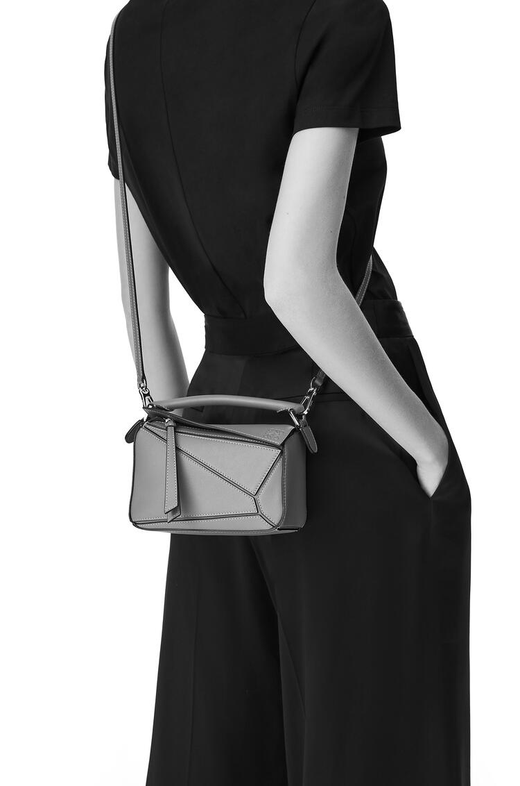 LOEWE Mini Puzzle Bag In Classic Calfskin Black/Taupe pdp_rd