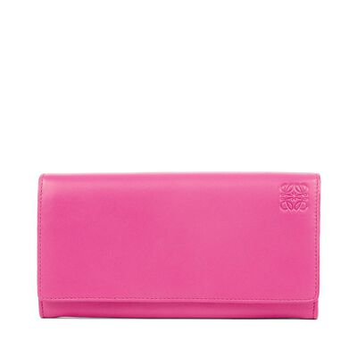 LOEWE Continental Wallet Fucshia/Sand front