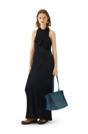LOEWE Long Satin Dress ブラック front