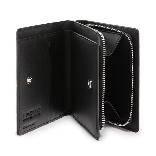 LOEWE Compact Zip Wallet 黑色 front