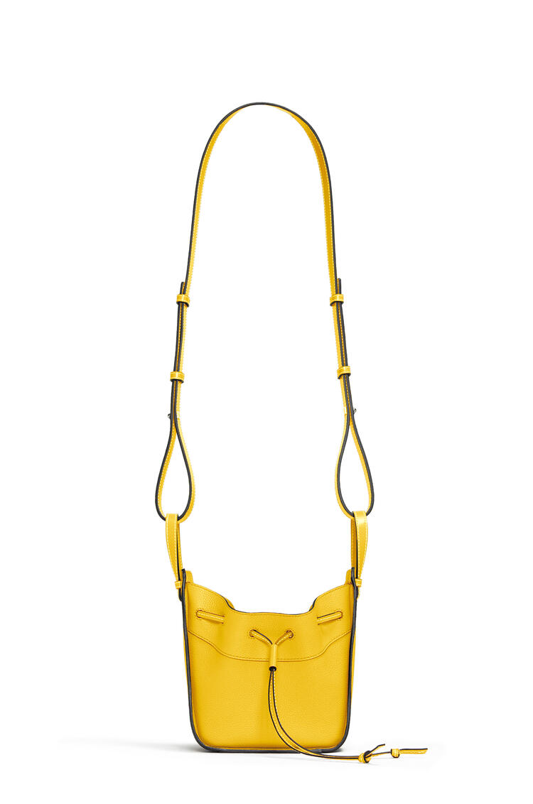 LOEWE Mini Hammock Drawstring bag in soft grained calfskin Yellow pdp_rd
