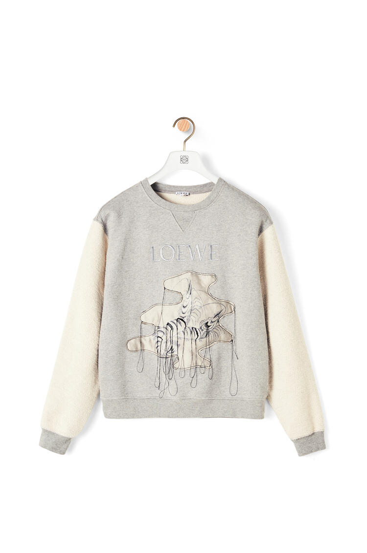 LOEWE Shrimp jacquard sweatshirt in cotton Grey Melange pdp_rd