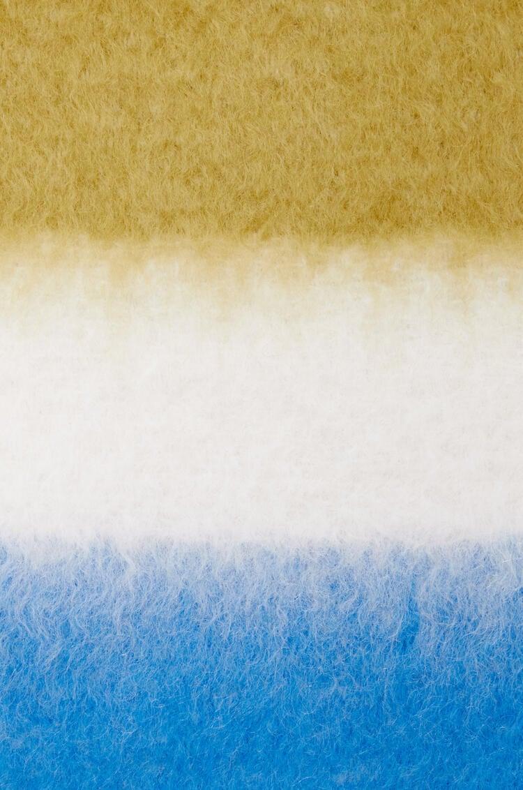 LOEWE Stripe scarf in mohair and wool Brown/Blue pdp_rd