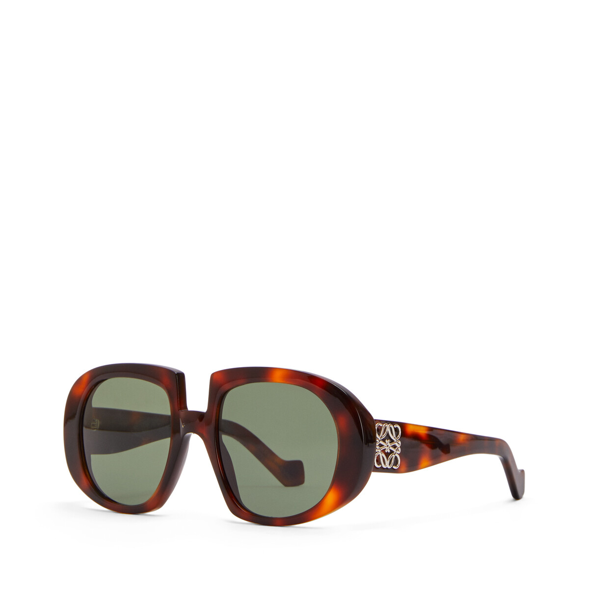 LOEWE Acetate Anagram Sunglasses Grey/Light Havana front