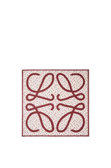 LOEWE Bufanda De 140 X 140 Cm En Cashmere Y Modal Rojo pdp_rd