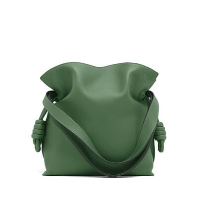 LOEWE Flamenco Knot Small Bag Forest Green front