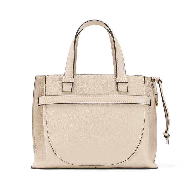 LOEWE Small Gate Top Handle bag in soft grained calfskin Light Oat pdp_rd