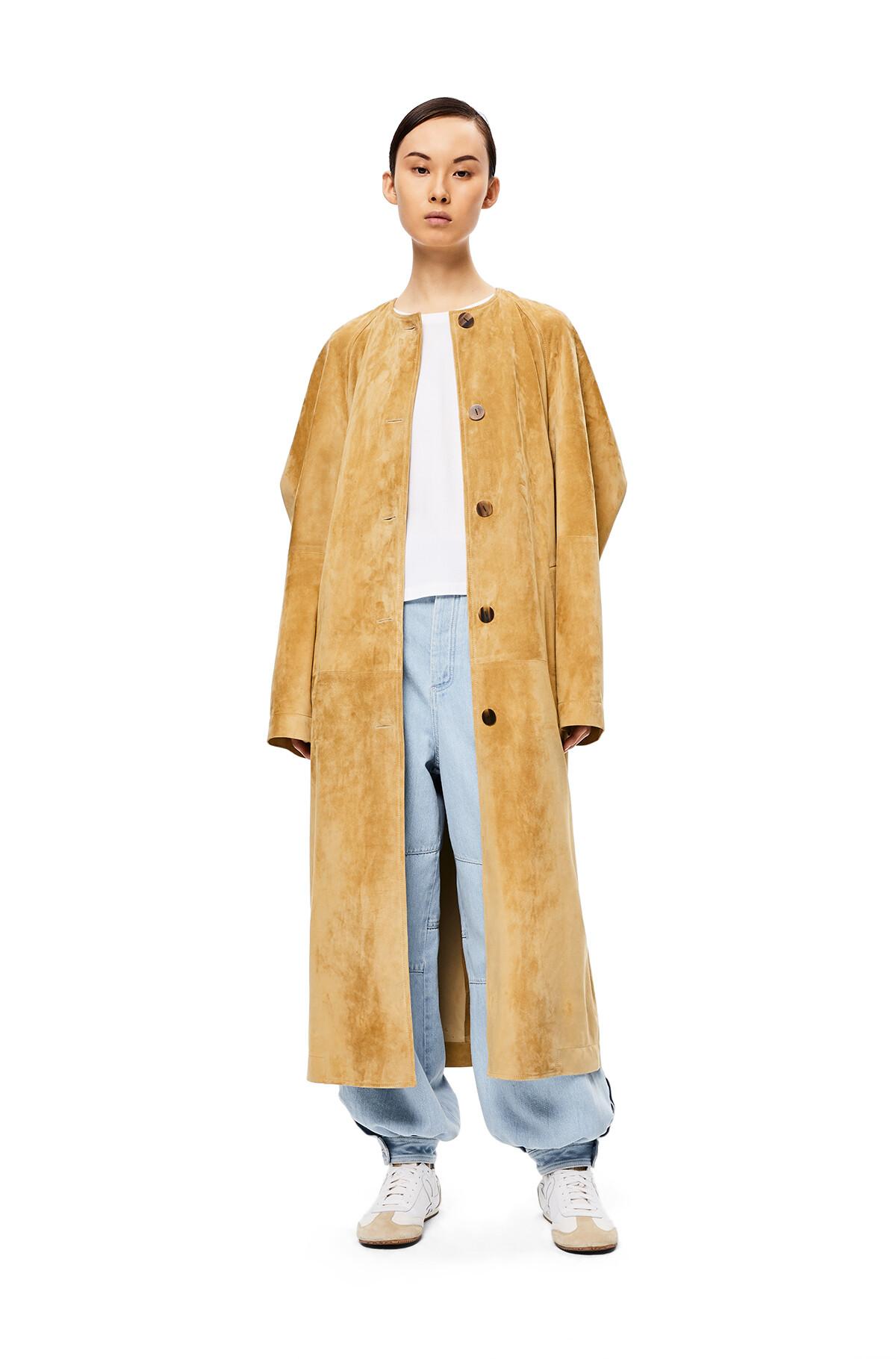 LOEWE Raglan Sleeve Coat Gold/Green Lime front