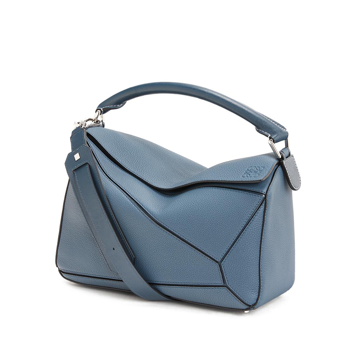 LOEWE Puzzle Bag Steel Blue front