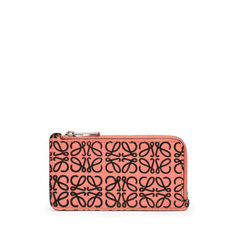 LOEWE Coin/Card Holder Pink Tulip/Black front