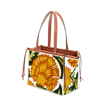 LOEWE Bolso Cushion Tote Floral Amarillo front
