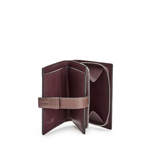 LOEWE Compact Zip Wallet Light Caramel/Pecan front