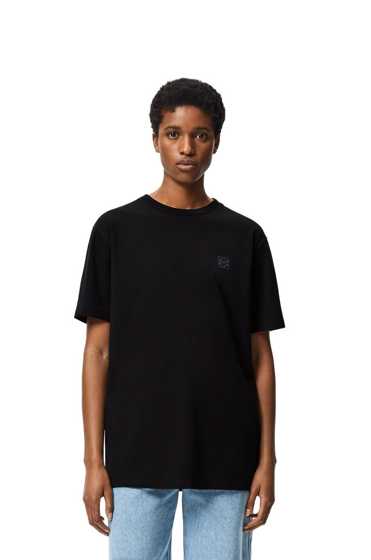 LOEWE Anagram embroidered t-shirt in cotton Black pdp_rd