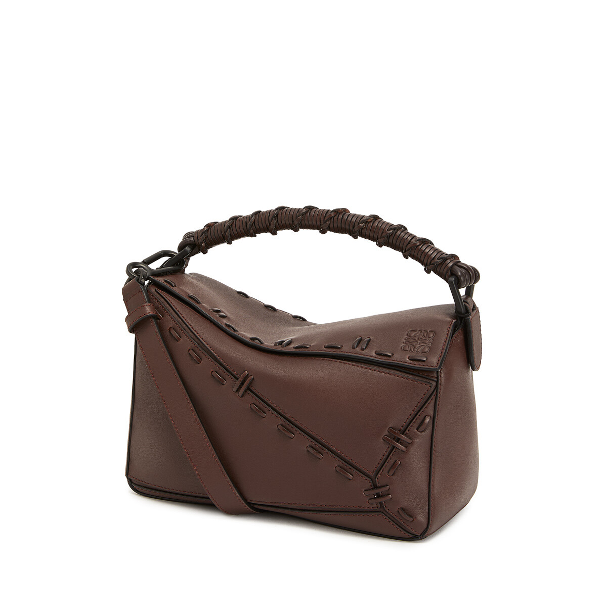 LOEWE Puzzle Small Bag Chestnut front