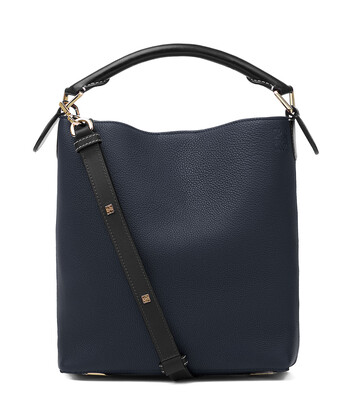 LOEWE T Bucket Small Bag Midnight Blue/Black front