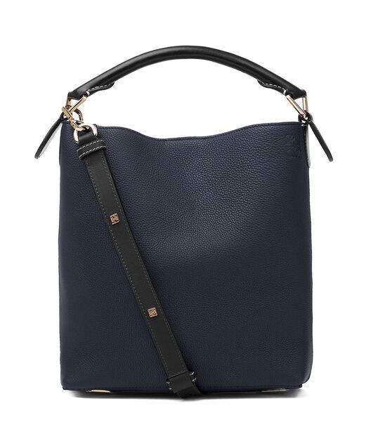 LOEWE Bolso T Bucket Pequeño Azul Medianoche/Negro front