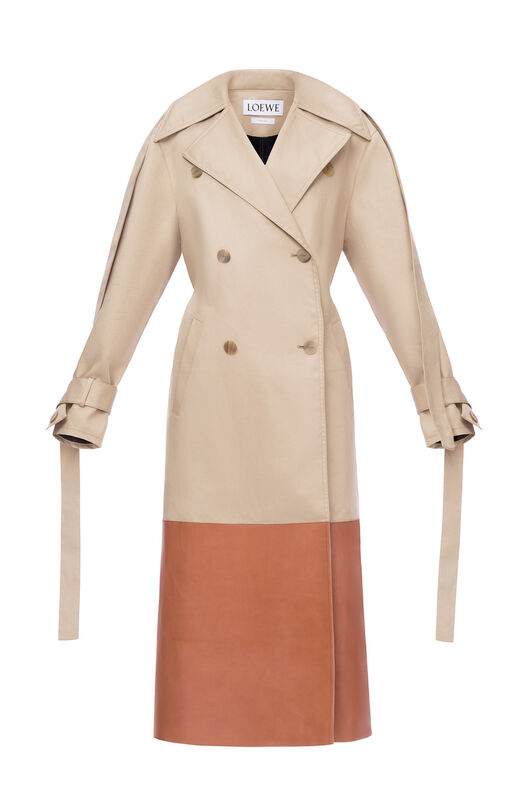 Trenchcoat Leather Panel