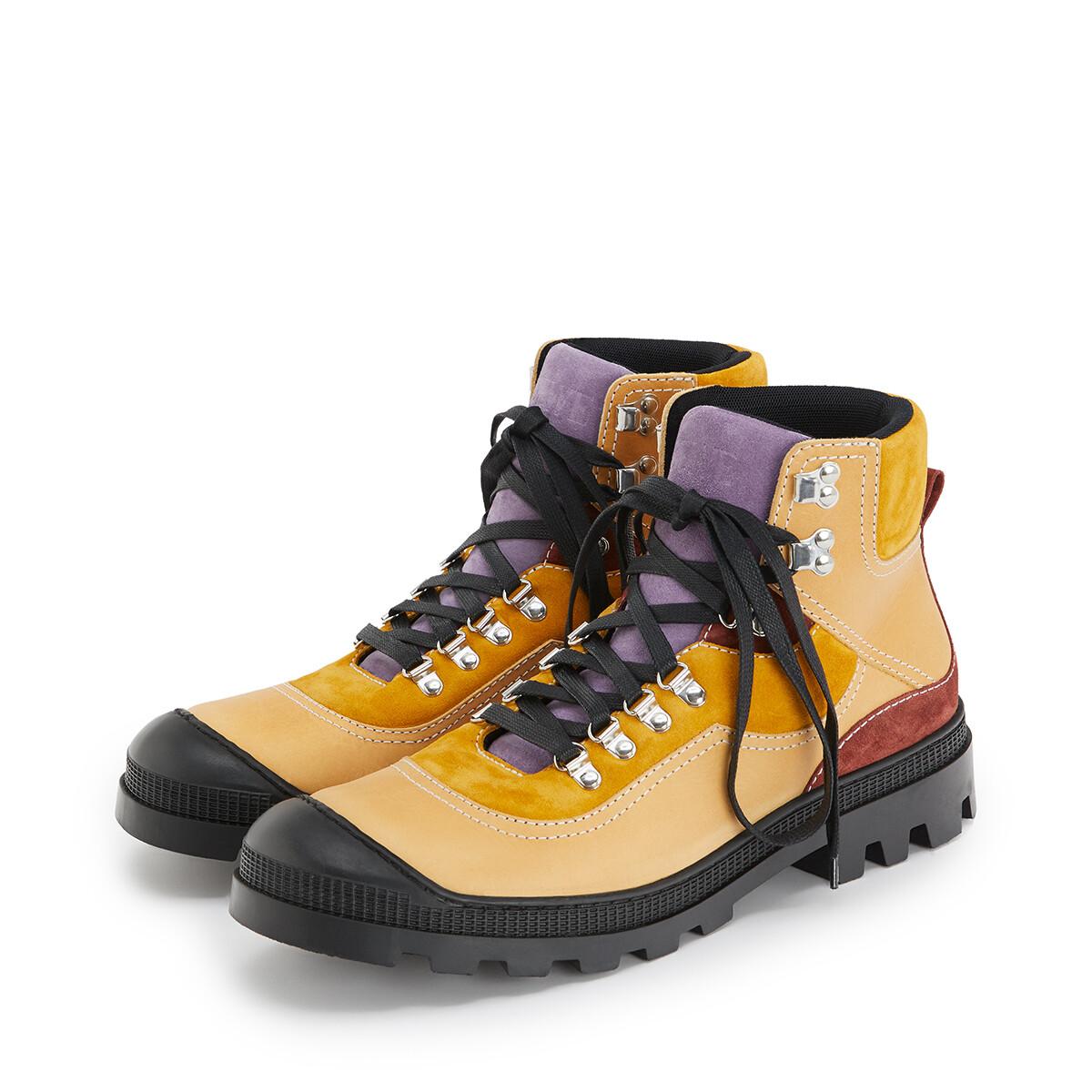 LOEWE Hiking Boot Mustard/Lavender front