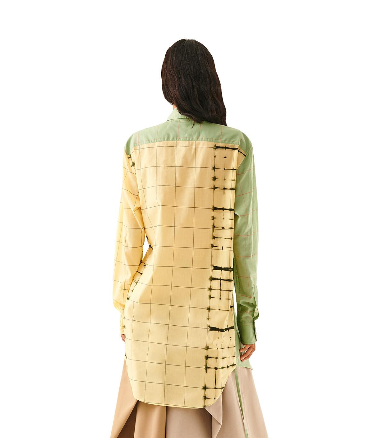 LOEWE Check Wrap Shirt Green/Yellow front