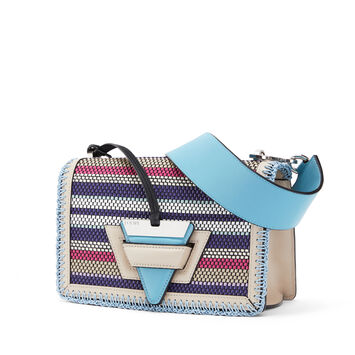 LOEWE Barcelona Woven Stripes Bag Light Oat/Multicolor front