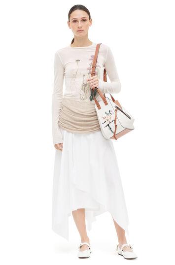 LOEWE Asymmetric Skirt Blanco/Beige front