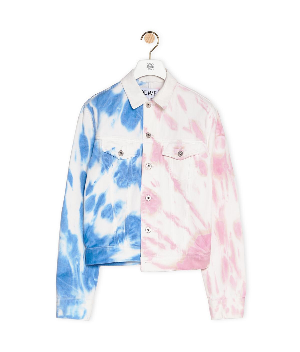 LOEWE Denim Jacket In Tie Dye Cotton Multicolor front