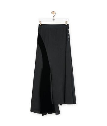 LOEWE Velvet Patch Skirt ブラック front