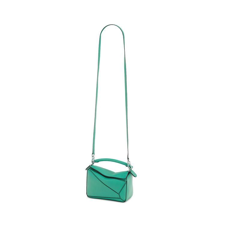 LOEWE Mini Puzzle bag in classic calfskin Emerald Green pdp_rd