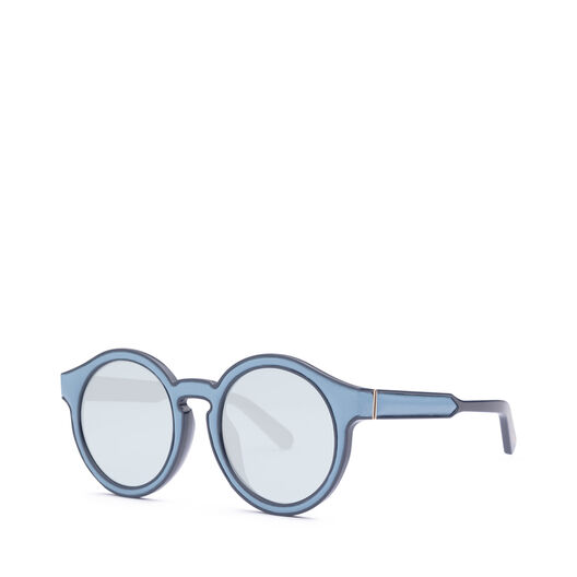 LOEWE Gafas Redondas Acolchadas Azul Celeste/Azul Claro all