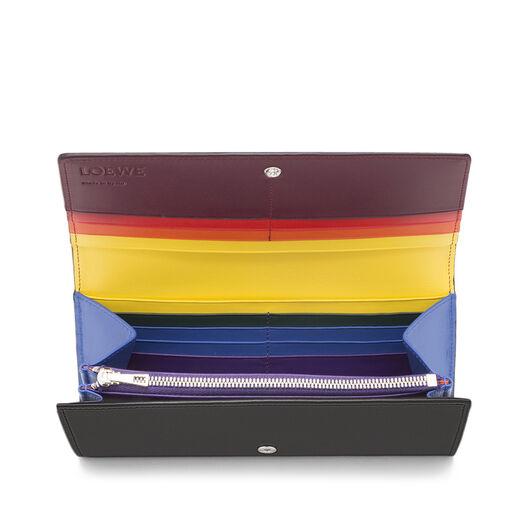 LOEWE Rainbow Continental Wallet Multicolor/Black front