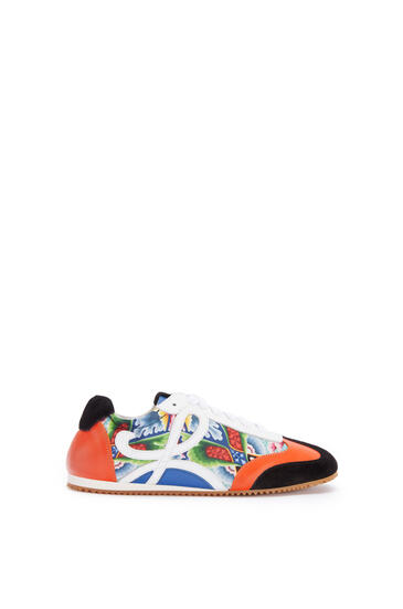 LOEWE Ballet runner in split calfskin and polyester Multicolor/Tan pdp_rd