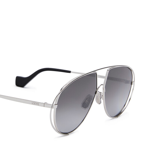 LOEWE Metal Pilot Sunglasses 煤灰色 front