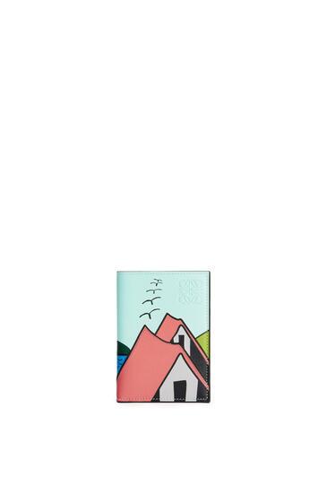 LOEWE La Palme 经典牛皮革双折卡包 Pink Tulip/Multicolor pdp_rd