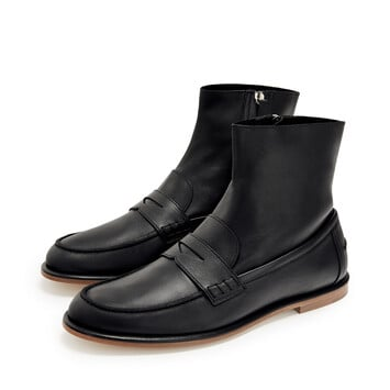 LOEWE Loafer Boot ブラック front