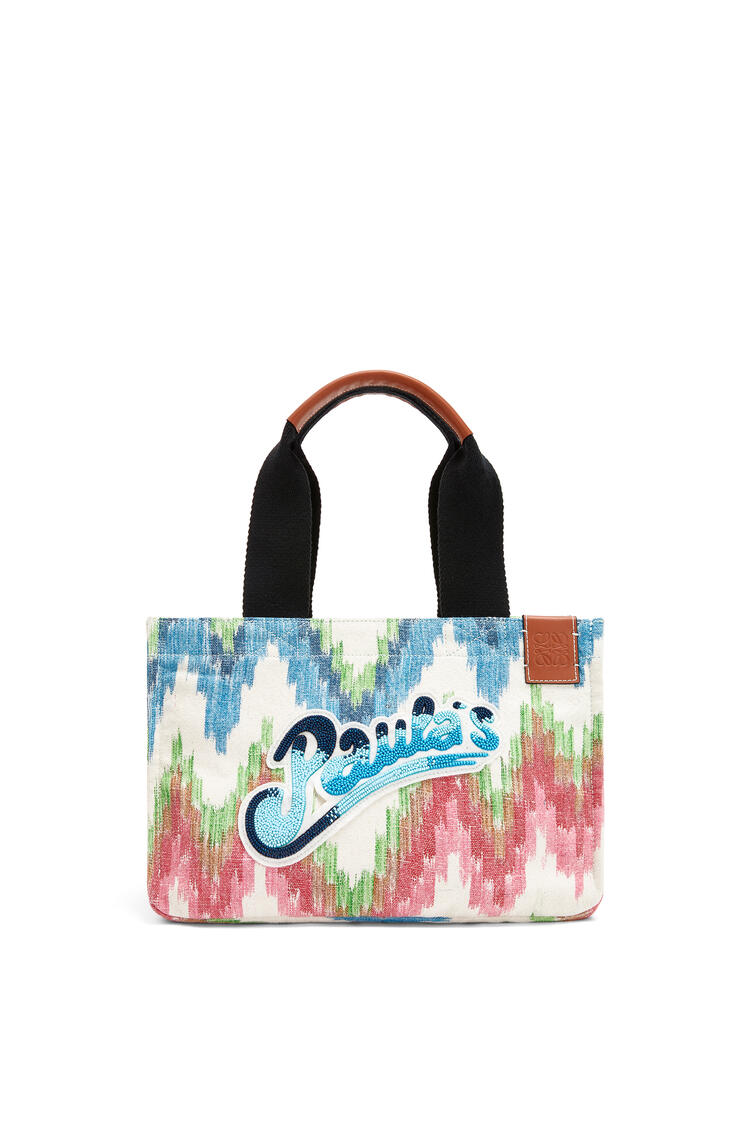 LOEWE Small Paula's Cabas bag in ikat textile Multicolor pdp_rd