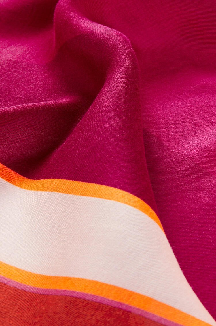 LOEWE Puzzle scarf in modal and cashmere Fuchsia/Magenta pdp_rd