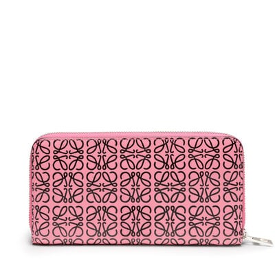 LOEWE Zip Around Wallet Wild Rose/Black front
