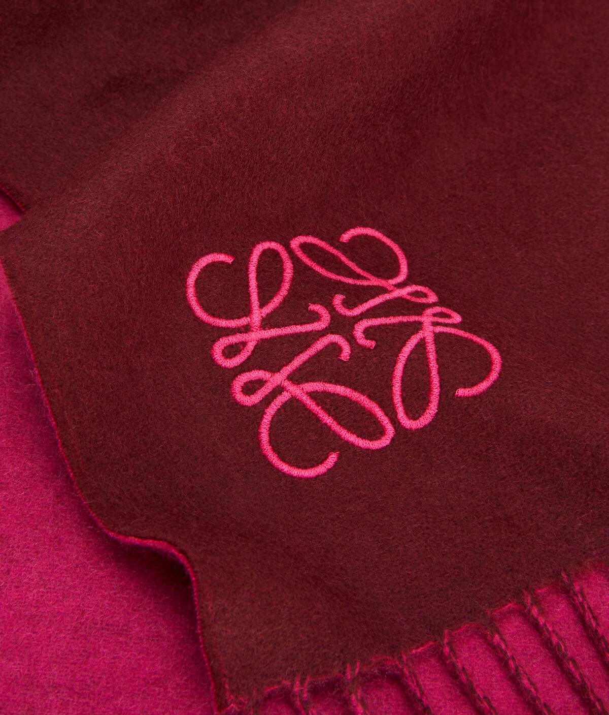 LOEWE 30X180 Anagram Scarf Magenta/Burgundy front