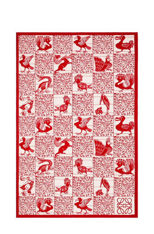 LOEWE 150X210 Knit Scarf Blanket 红色 front