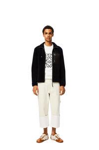 LOEWE Shearling jacket Navy Blue/Black pdp_rd
