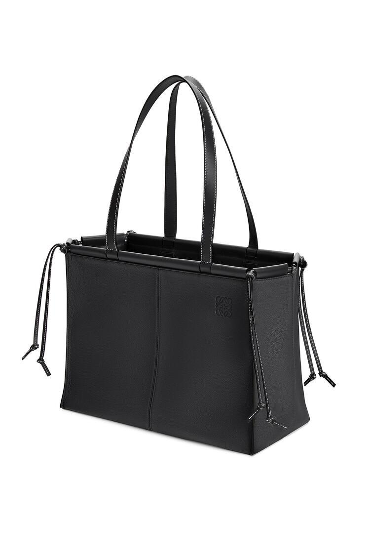 LOEWE Cushion Tote Bag In Soft Grained Calfskin 黑色 pdp_rd