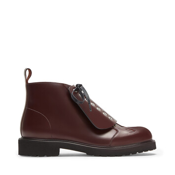 LOEWE Lace Up Boot Burgundy front
