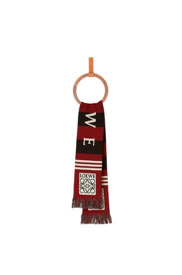 LOEWE 17 x 120 cm LOEWE jacquard scarf in cashmere Red pdp_rd