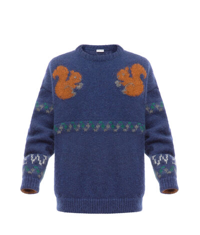 LOEWE Squirrel Sweater Navy Blue front