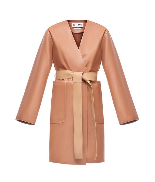 LOEWE Short Coat Tan front